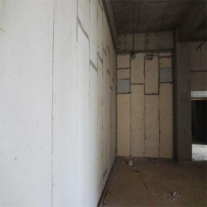 广州某机械加工企业厂房泡沫水泥夹芯条板安装现场