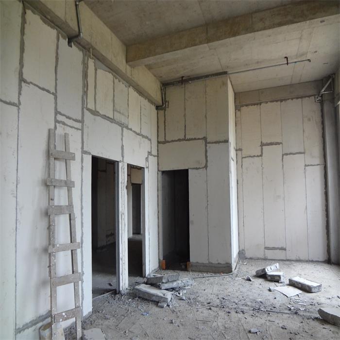 浙江宁波某写字楼泡沫水泥夹芯条板安装现场